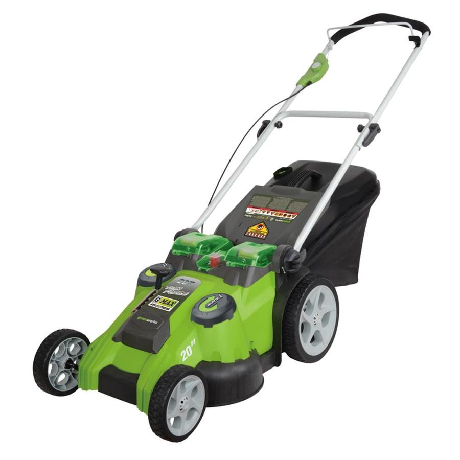 Greenworks 40-Volt Lithium Ion (Li-ion) Cordless Electric Push Lawn Mower with Mulching Capability