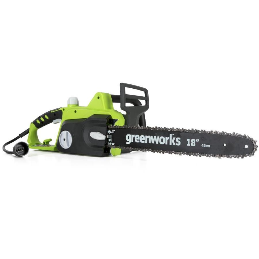 Greenworks 14.5-Amp 18-in Corded Electric Chainsaw