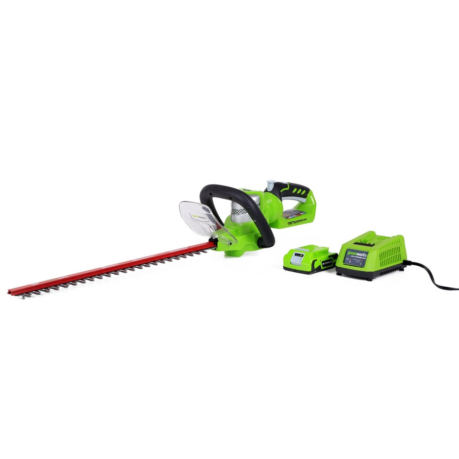 Greenworks 24-Volt 22-in Dual Cordless Hedge Trimmer (Battery Included)