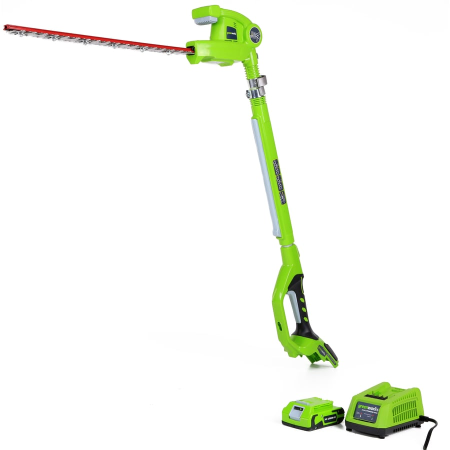 Greenworks 24-Volt 20-in Dual Cordless Hedge Trimmer (Battery Included)