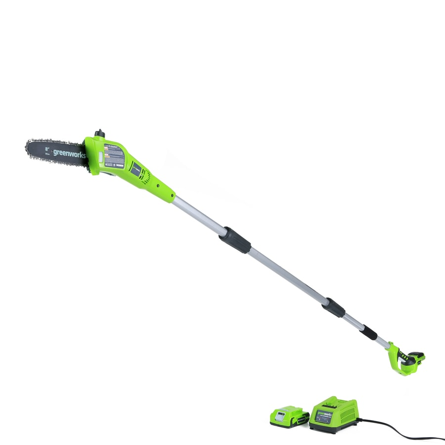 Greenworks 24-volt Lithium Ion 8-in Cordless Electric Pole Saw