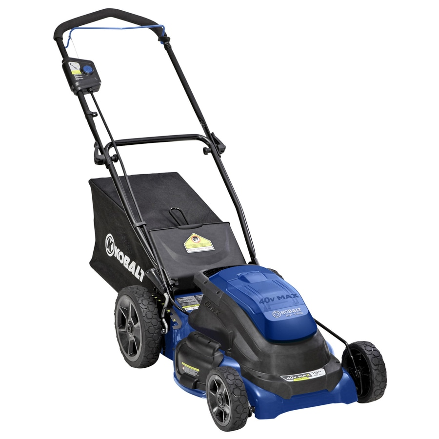 Kobalt 40-Volt Max Lithium Ion (Li-ion) 19-in Deck Width Cordless Electric Push Lawn Mower with 2 Batteries