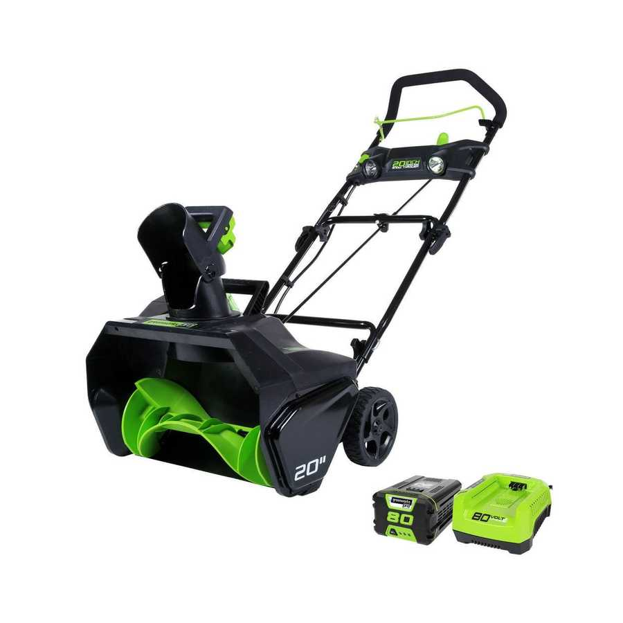 Greenworks Pro 80-Volt Max 20-in Cordless Electric Snow Blower