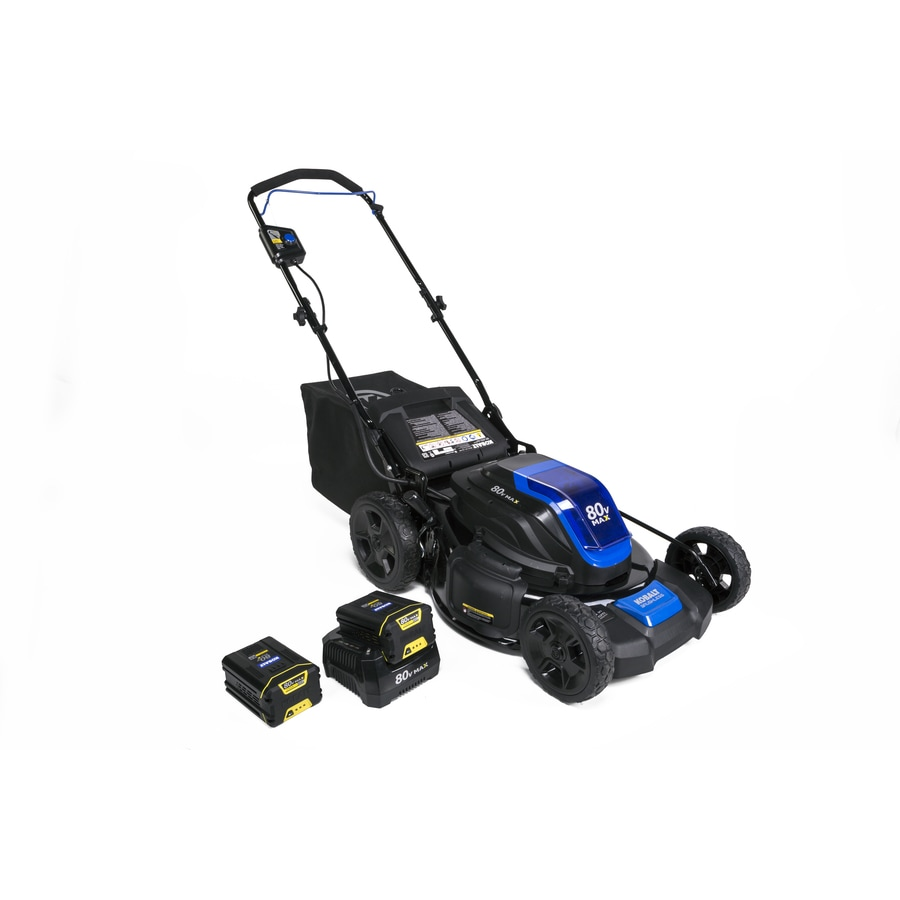 Kobalt 80-volt Max Brushless Lithium Ion 21-in Deck Width Cordless Electric Lawn Mower with with Mulching Capability (Batteries Included)