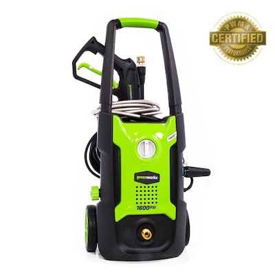 Greenworks 1600-PSI 1 2-GPM Cold Water Electric Pressure