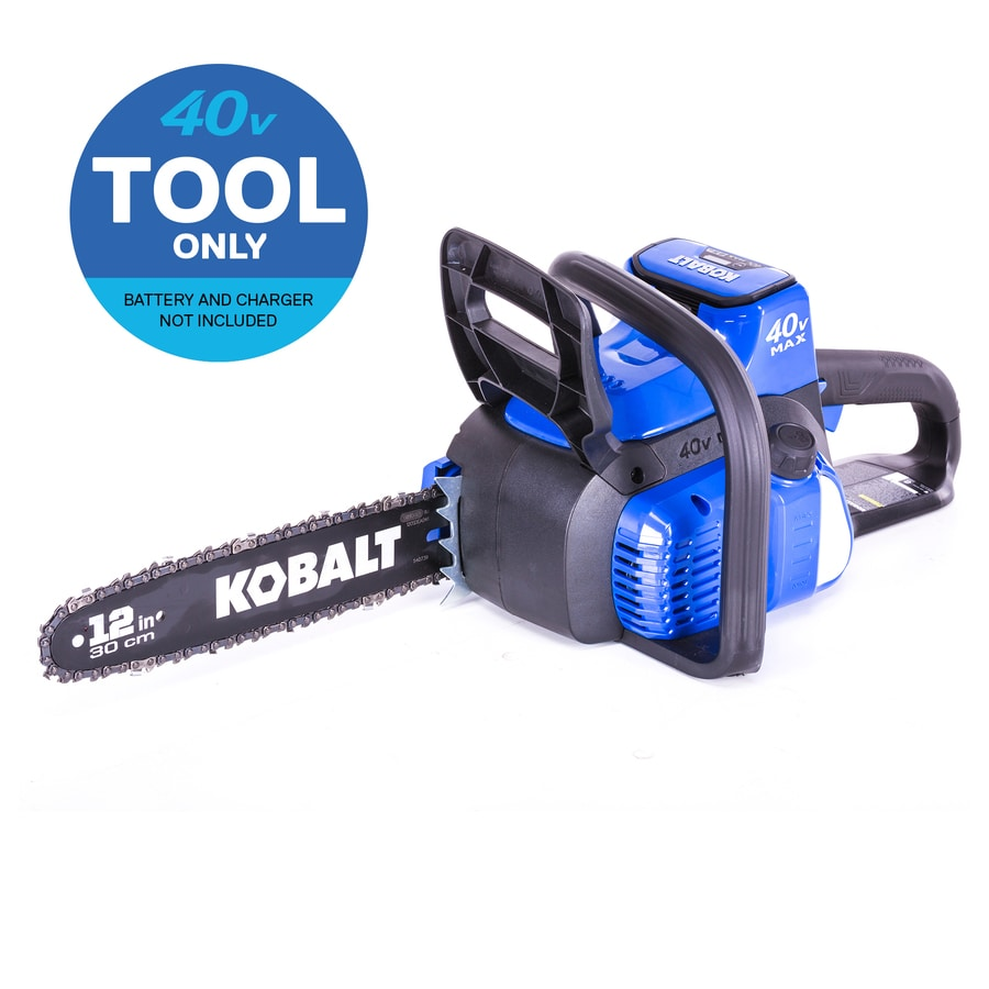 Kobalt 40-volt Max Lithium Ion 12-in Cordless Electric Chainsaw (Battery Not Included)