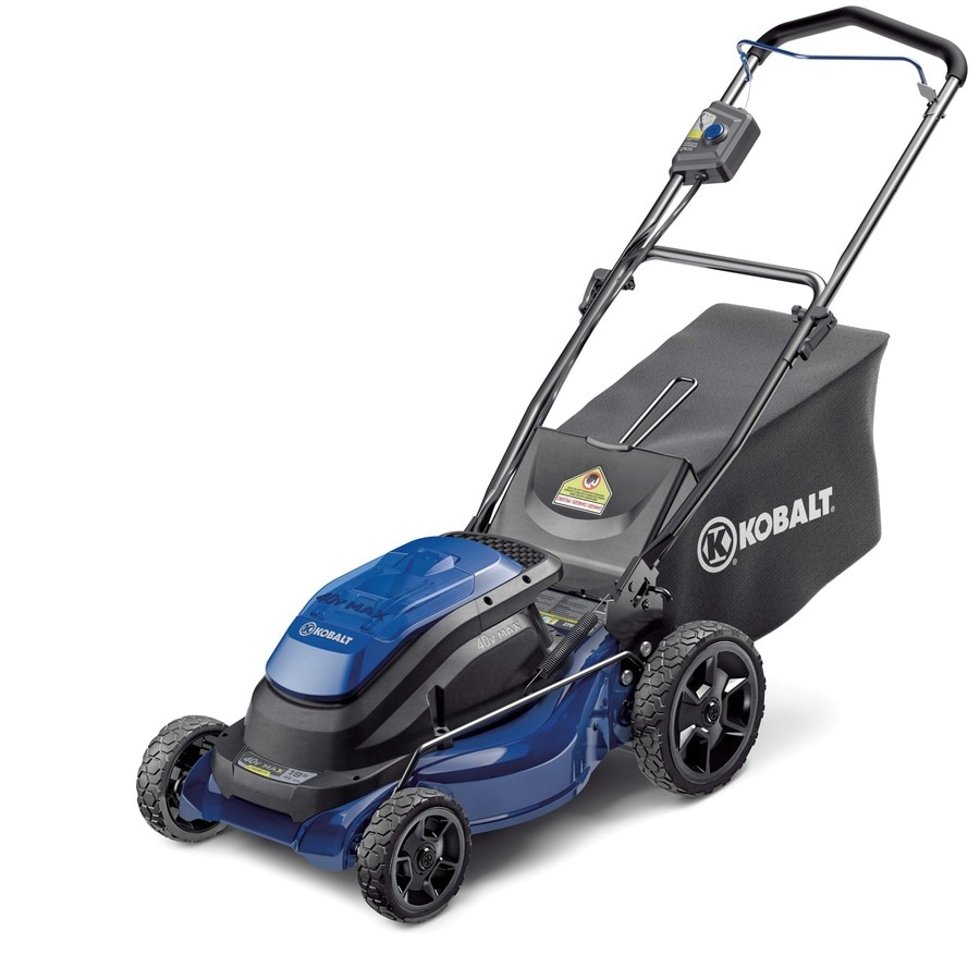 Kobalt 40-Volt Max Lithium Ion (Li-ion) 19-in Deck Width Cordless Electric Push Lawn Mower with 1 Battery