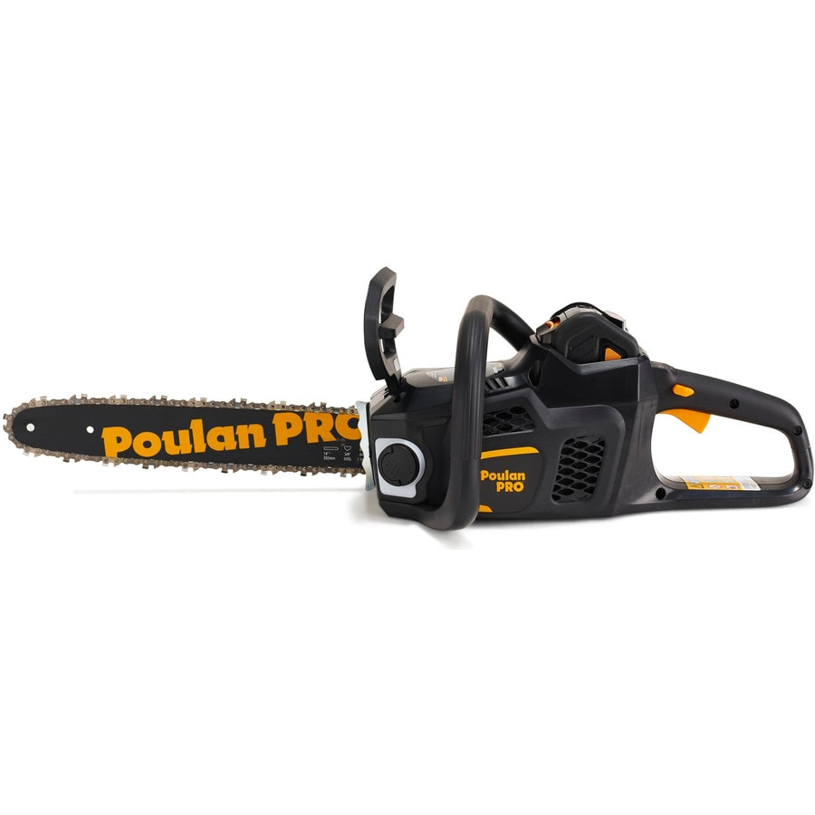 Poulan Pro PPB4014 40-Volt-Volt Lithium Ion (Li-ion) 14-in Brushless Cordless Electric Chainsaw