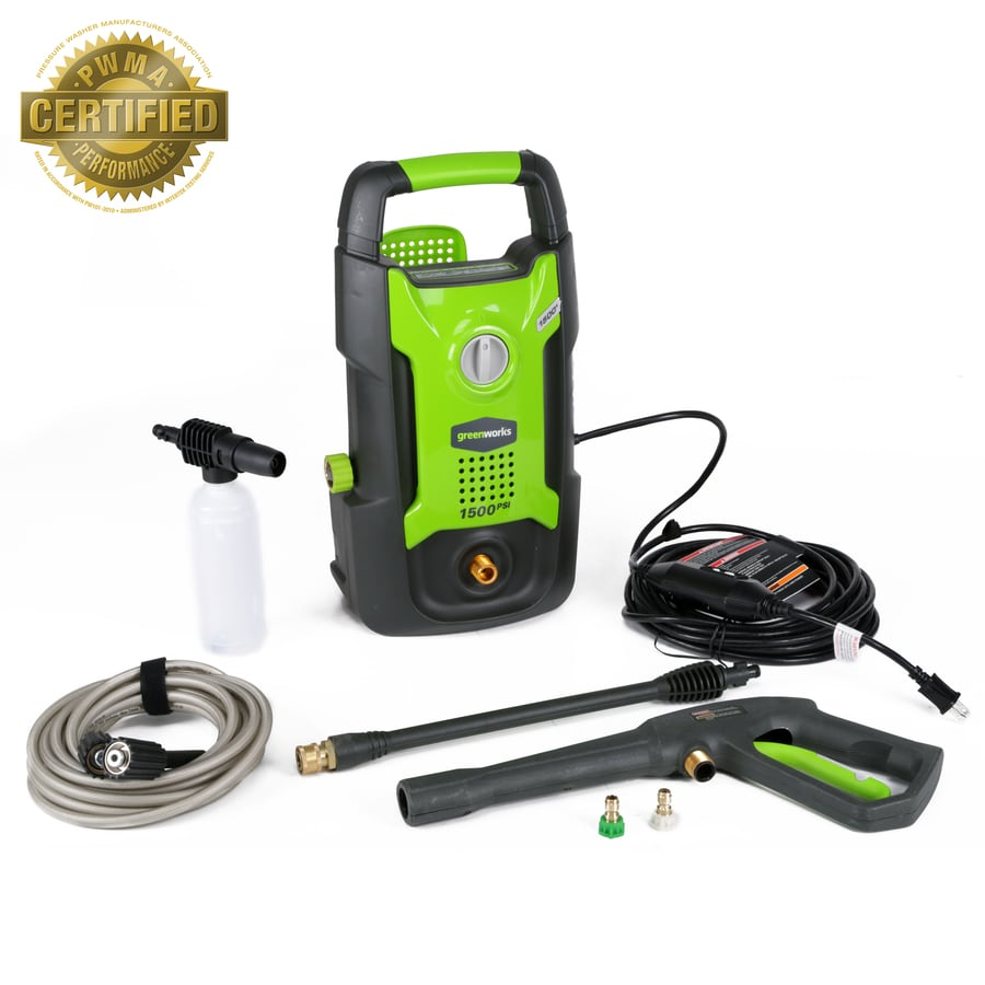 Greenworks 1500-PSI 1.2-Gallon-GPM Cold Water Electric Pressure Washer