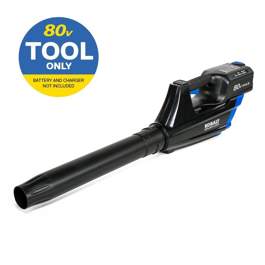 Kobalt 80-Volt Max Lithium Ion (Li-ion) 500-CFM 125-MPH Heavy-Duty Brushless Cordless Electric Leaf Blower (Battery Not Included)