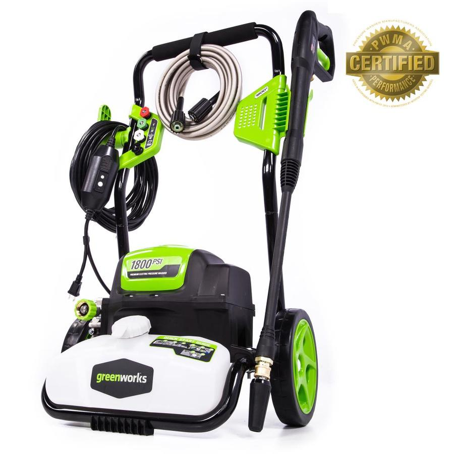 Greenworks 1,800-PSI 1.1-GPM Cold Water Electric Pressure Washer