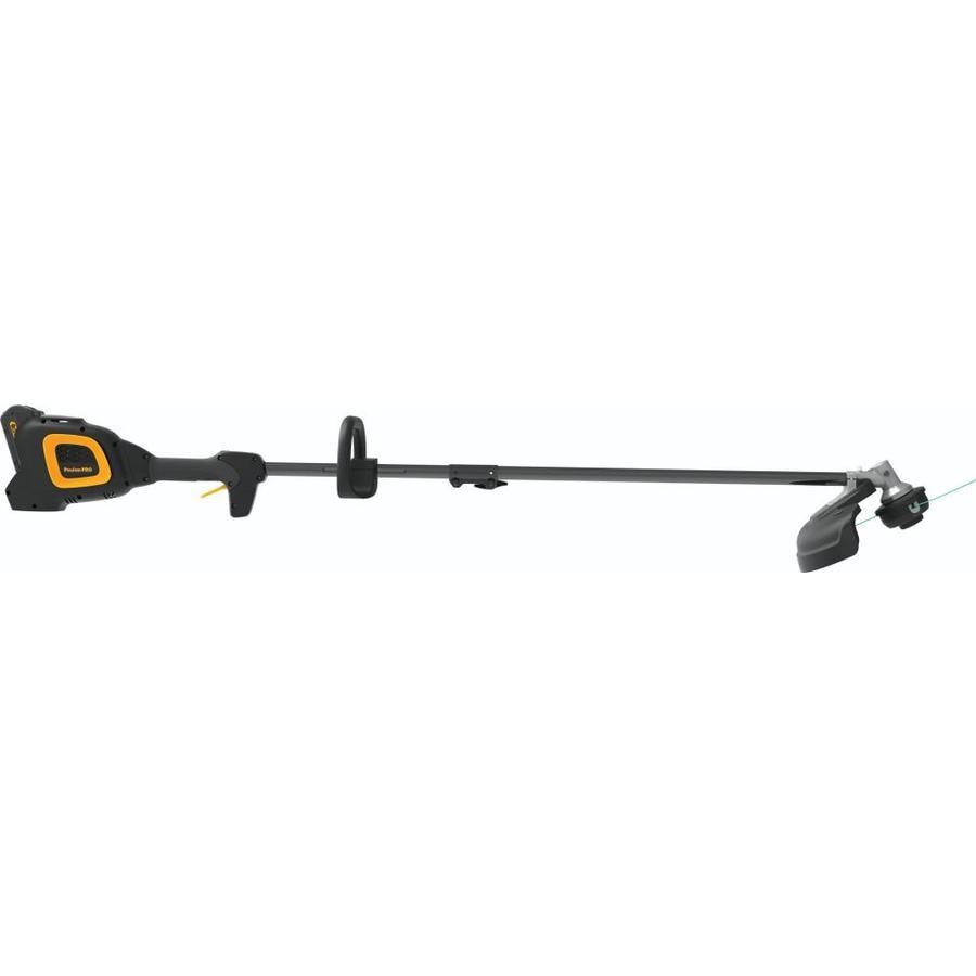 Poulan Pro PPB40T 40-volt 14-in Straight Brushless Cordless String Trimmer Edger Capable