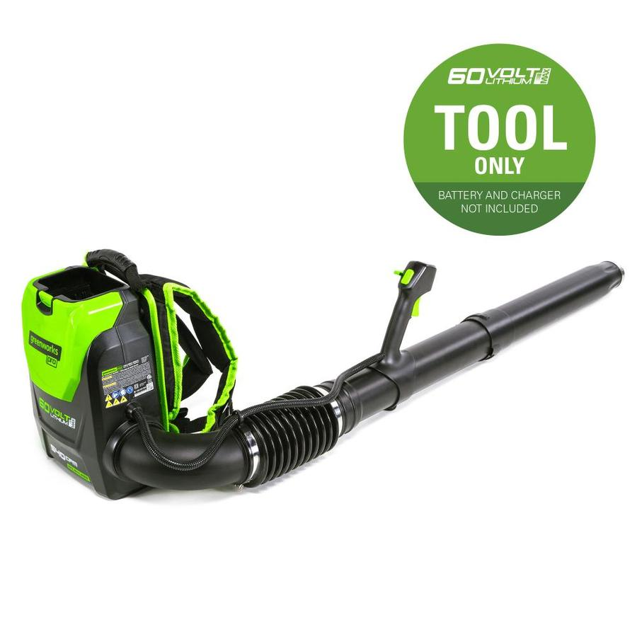 Greenworks Pro 60-Volt Max Lithium Ion (Li-ion) 540-CFM 140-MPH Medium-Duty Brushless Cordless Electric Leaf Blower (Battery Not Included)