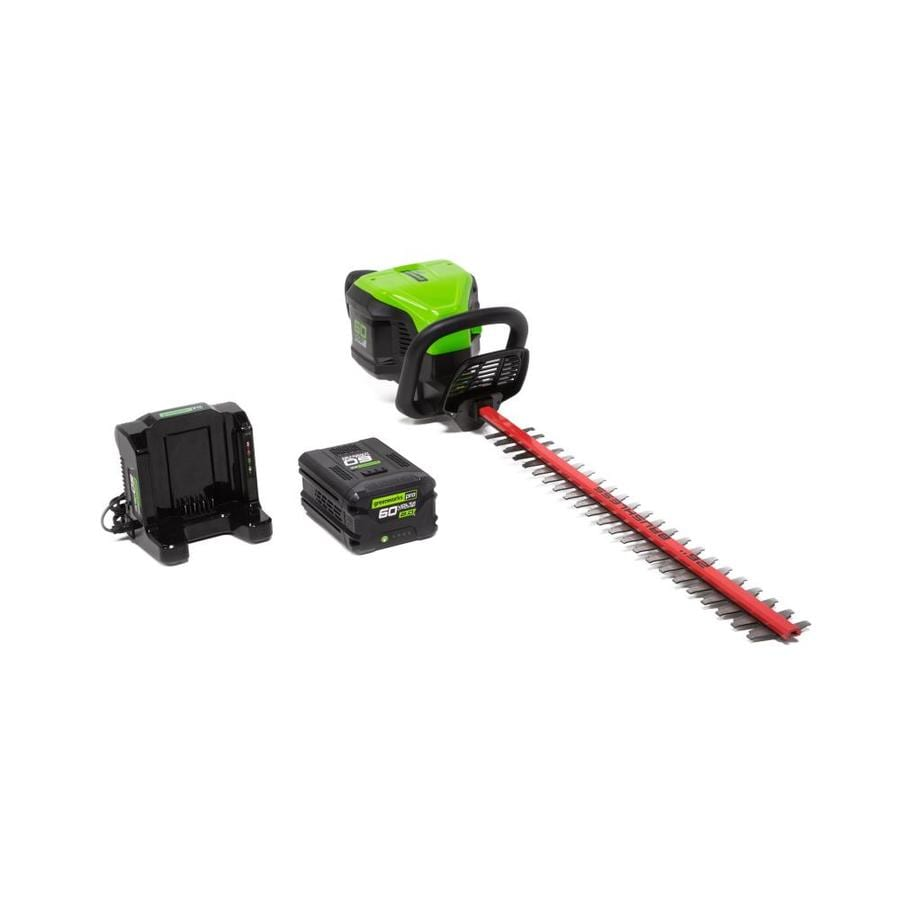 Greenworks Pro 60-volt Max 26-in Dual Cordless Hedge Trimmer (Battery Included)
