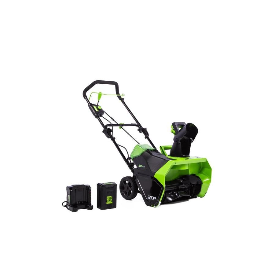 Greenworks 60-Volt 20-in Single-stage Cordless Electric Snow Blower Battery Included