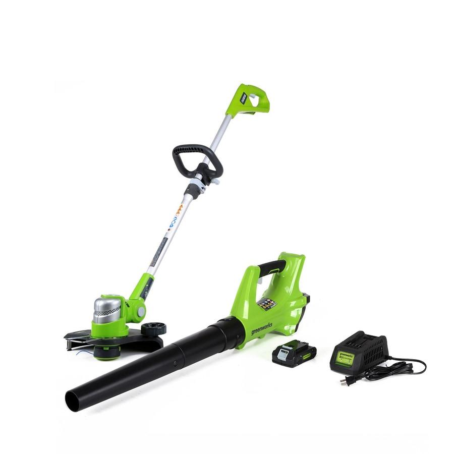 Greenworks 2-Piece Cordless Power Equipment Combo Kit