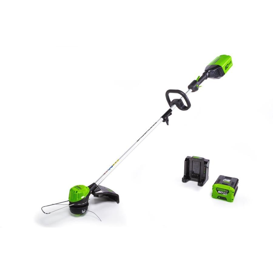 Greenworks Pro 60-Volt Max 16-in Straight Brushless Cordless String Trimmer (Battery Included)