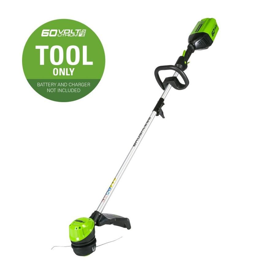 Greenworks Pro 60-Volt Max 16-in Straight Brushless Cordless String Trimmer (Battery Not Included)