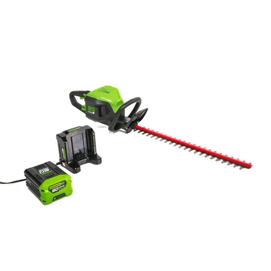 Greenworks Pro 60-Volt Max 24-in Dual Cordless Hedge Trimmer (Battery Included)