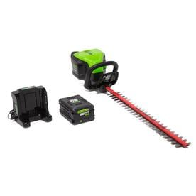 Greenworks Pro 60-Volt Max 24-in Dual Cordless Electric Hedge Trimmer (1-Battery Included)
