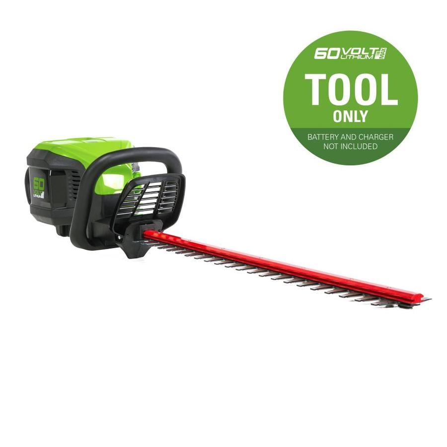 Greenworks Pro 60-Volt Max 24-in Dual Cordless Hedge Trimmer (Battery Not Included)