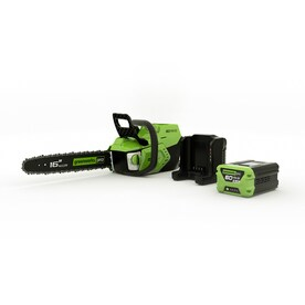 Greenworks Pro 60-volt Max Lithium Ion 16-in Brushless Cordless Electric Chainsaw (Battery Included)