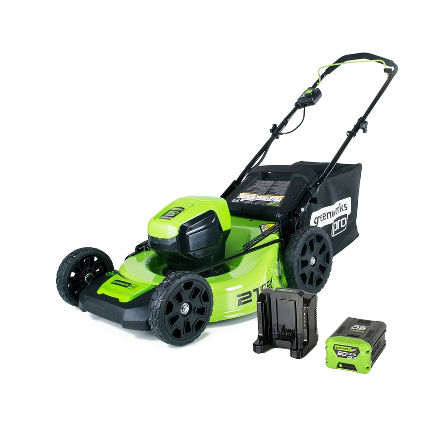 Greenworks Pro 60 Volt Brushless Lithium Ion 21 In Cordless Electric Lawn Mower