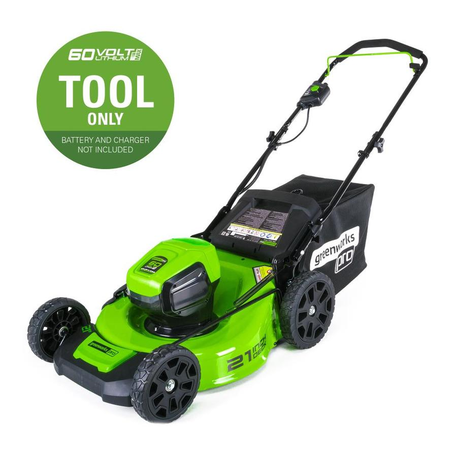Greenworks Pro 60-Volt Brushless Lithium Ion (Li-ion) 21-in Deck Width Cordless Electric Push Lawn Mower (Battery Not Included)