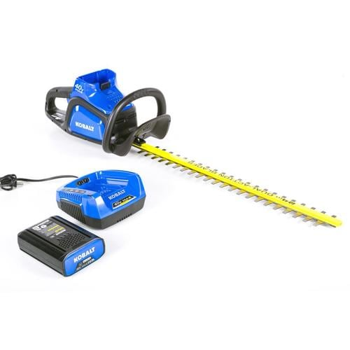 Kobalt 40-volt Max 24-in Dual Cordless Electric Hedge Trimmer (Battery Included) at Lowes.com