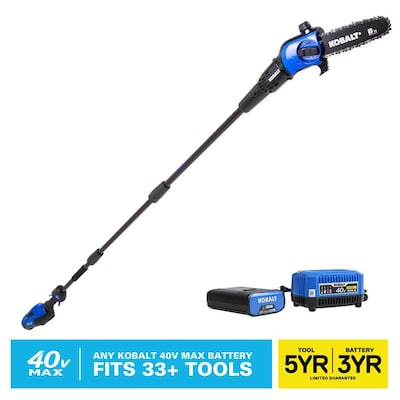Kobalt 40-volt Lithium Ion 8-in Cordless Electric Pole Saw