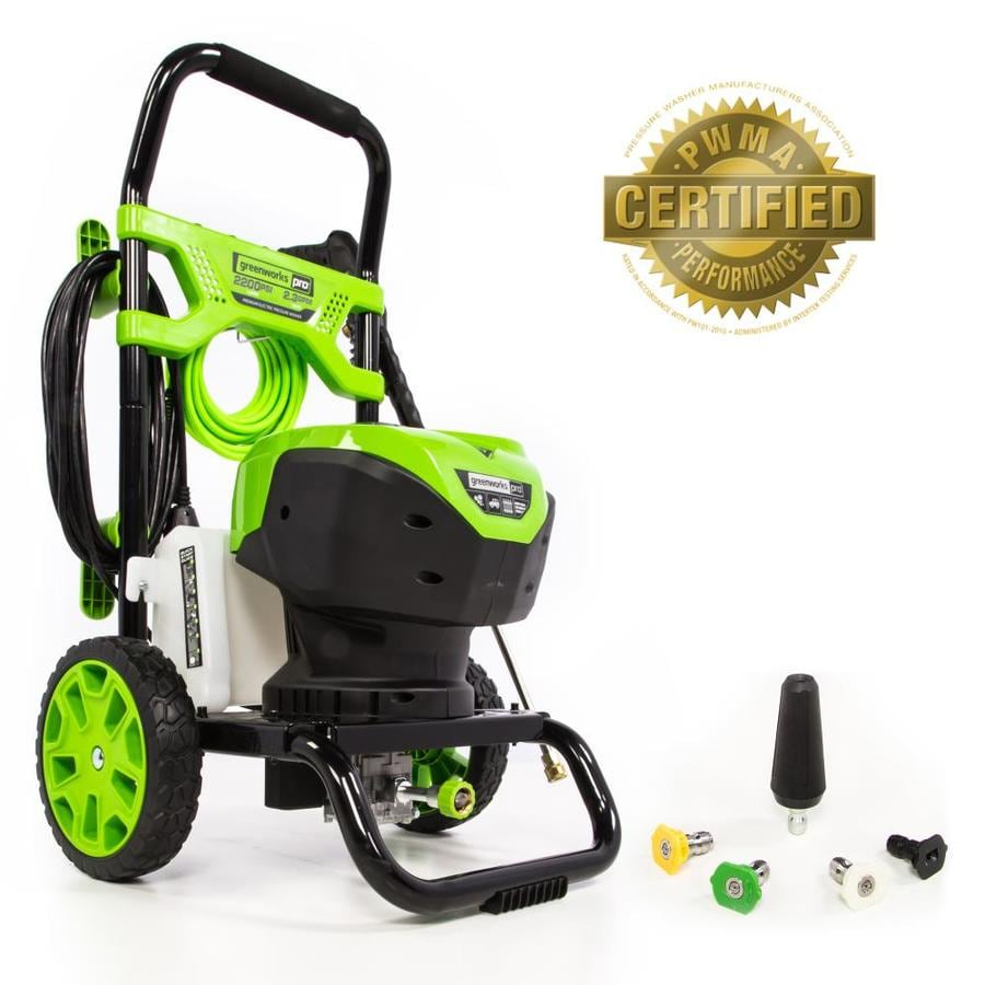 Greenworks 2200 Psi 2 3 Gpm Cold Water Electric Pressure