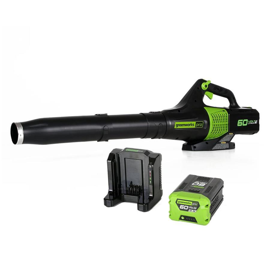 Greenworks Pro 60-Volt Lithium Ion (Li-ion) 540-CFM 140-MPH Heavy-Duty Brushless Cordless Electric Leaf Blower