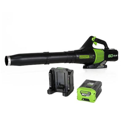 Greenworks Pro 60-Volt Lithium Ion 540-CFM 140-MPH Brushless Cordless Electric Leaf Blower (Battery Included)