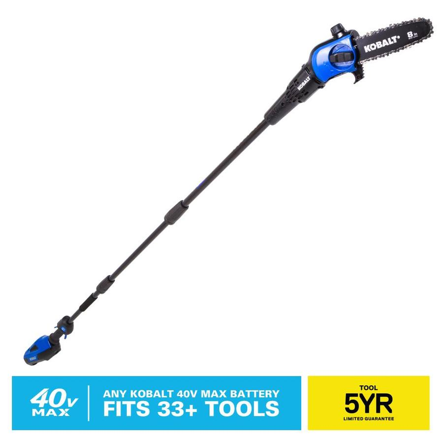 Kobalt 40-Volt Max Lithium Ion (Li-ion) 8-in Cordless Electric Pole Saw (Battery Not Included)