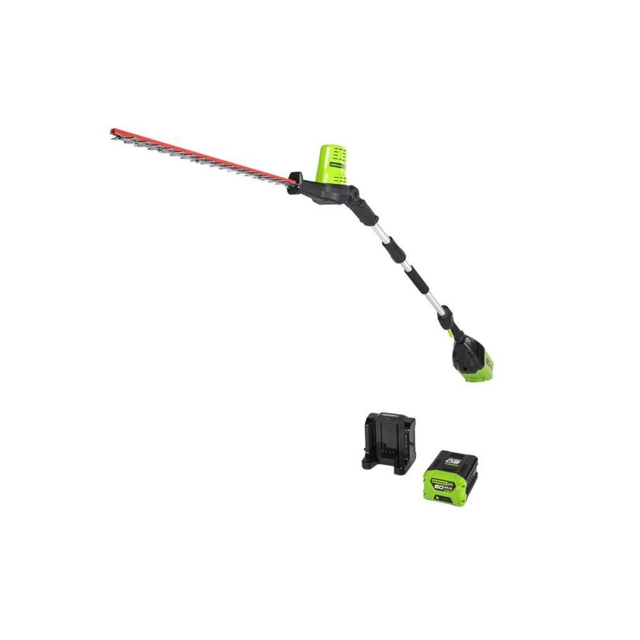 Greenworks 60-volt Max 20-in Dual Cordless Hedge Trimmer (Battery Included)