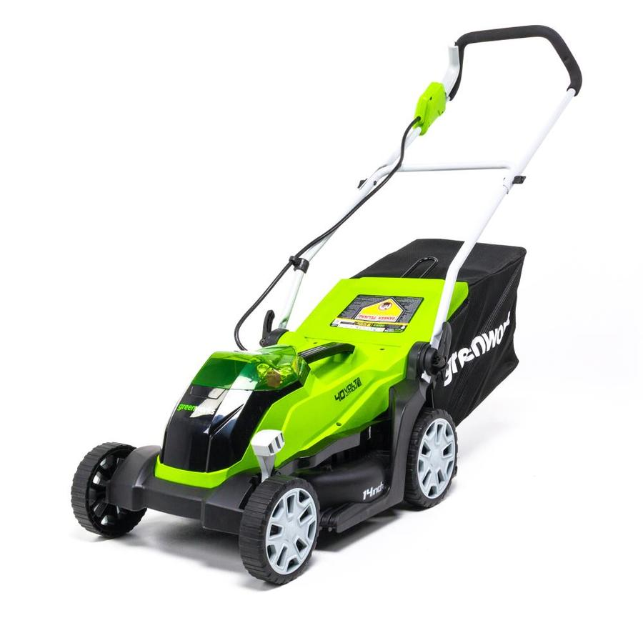 Greenworks 40 Volt Lithium Ion 14 In Push Cordless