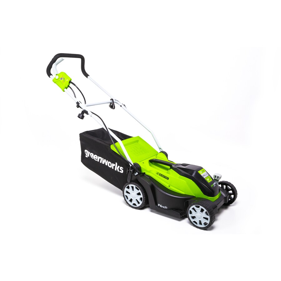 corded electric lawn mower. greenworks gw 14-in 9 amp mower corded electric lawn 0