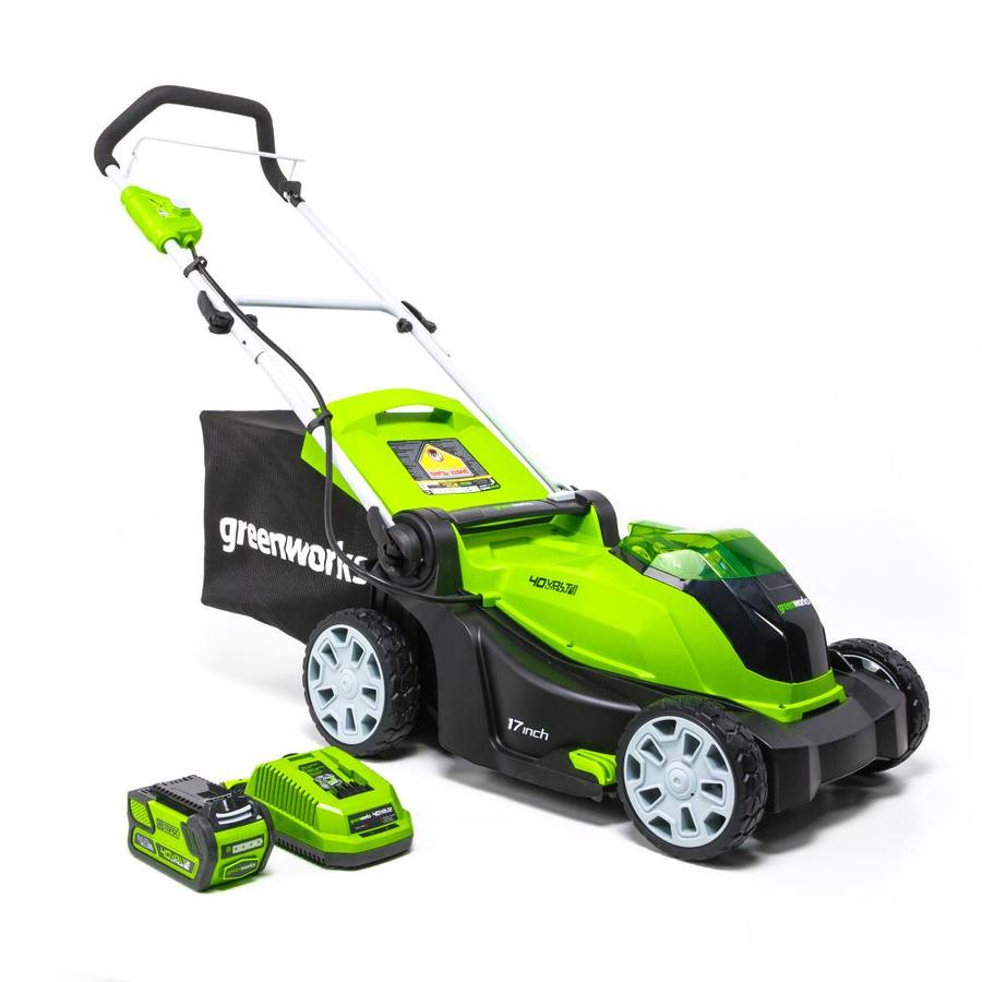 Greenworks 40 Volt Lithium Ion 17 In Push Cordless