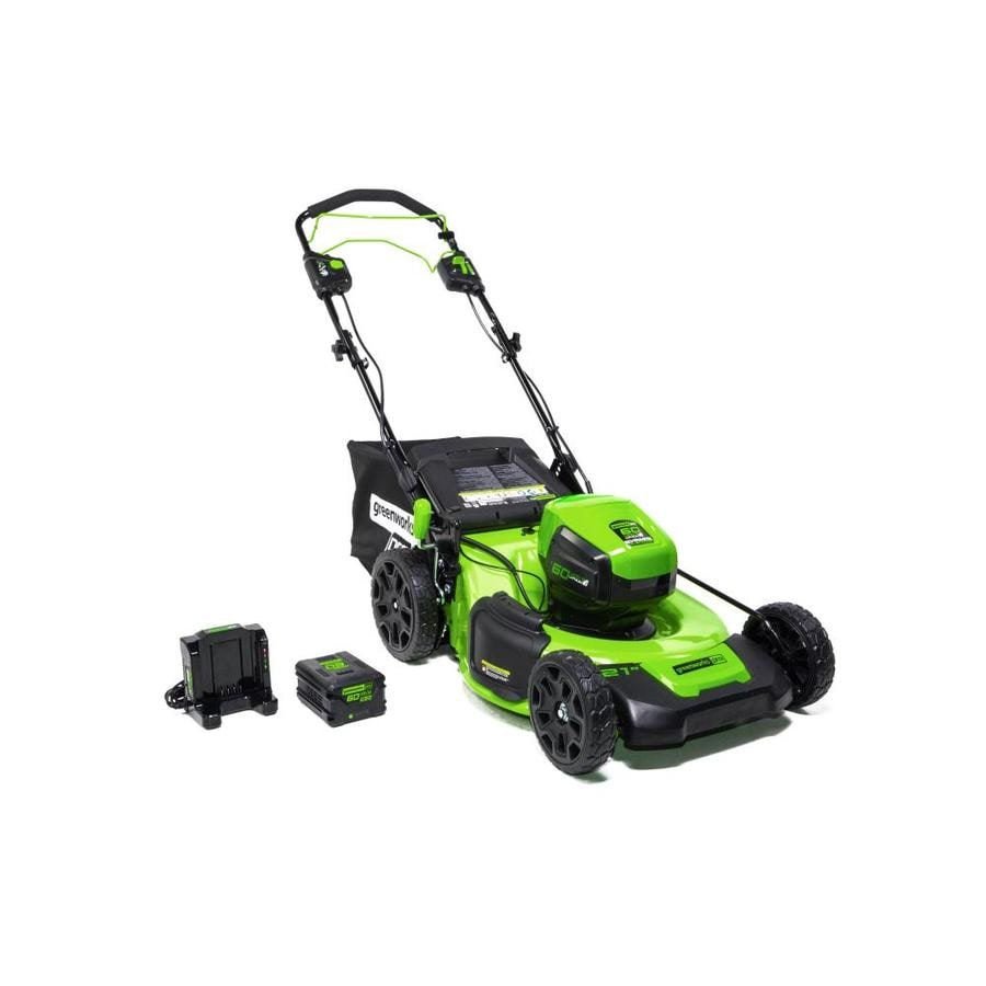 Greenworks Pro 60-volt Brushless Lithium Ion 21-in Self-Propelled Cordless Electric Lawn Mower (Battery Included)
