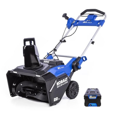 80 Volt Max 22 In Single Stage Push Cordless Electric Snow Er 1 Battery Included