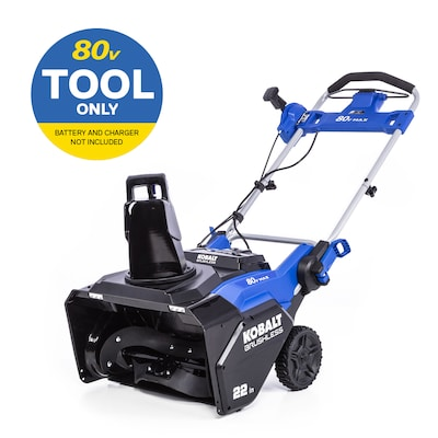 Kobalt 80 Volt Max 22 In Single Stage Push Cordless Electric Snow Blower by Lowe's
