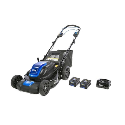 80 Volt Brushless Lithium Ion 21 In Self Propelled Cordless Electric Lawn Mower Batteries Included