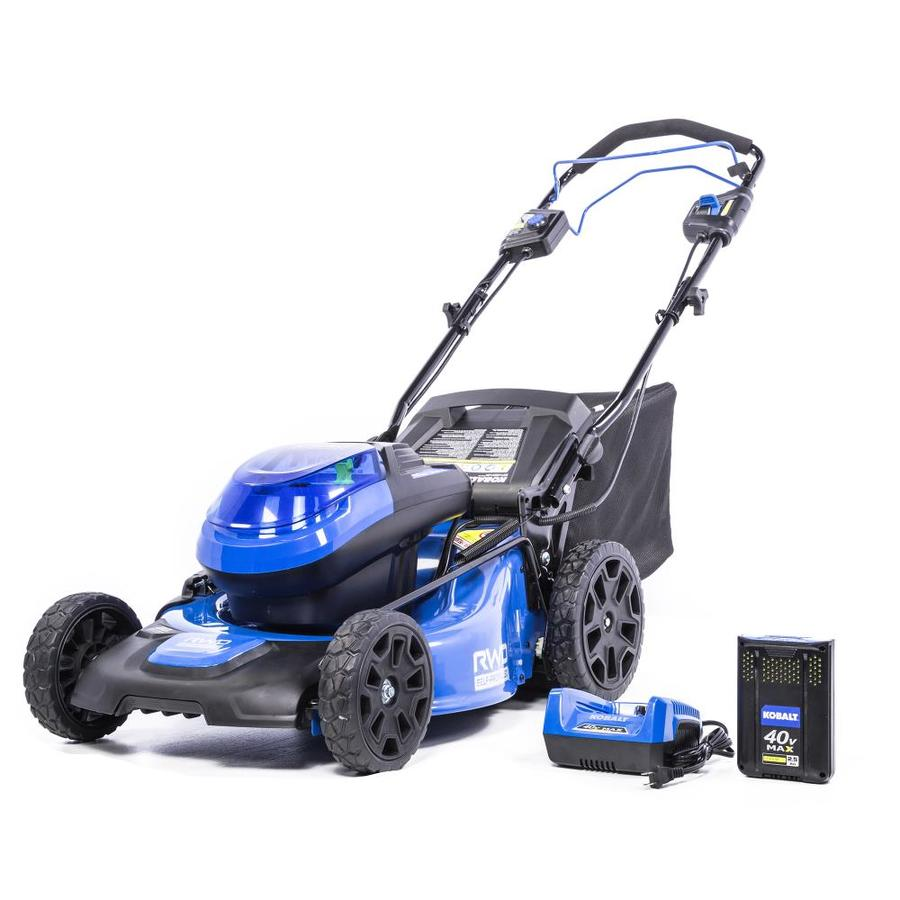 Kobalt 40 Volt Brushless Lithium Ion 20 In Self Propelled Cordless Electric Lawn