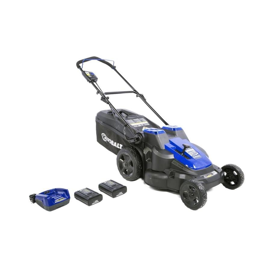 Shop Kobalt 40 Volt Lithium Ion 20 In Deck Width Cordless