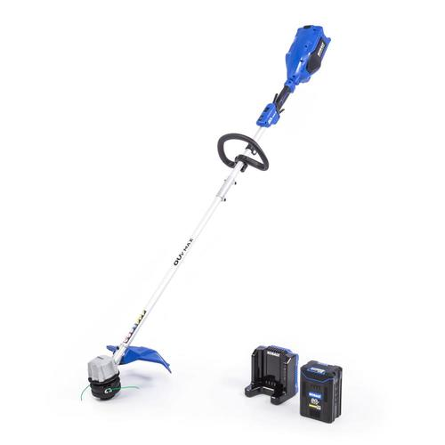 Battery Operated Weed Eater >> 80 Volt Max 16 In Straight Cordless String Trimmer Battery Included