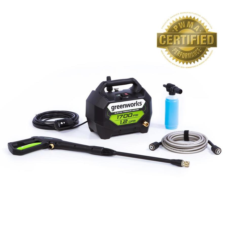 Greenworks 1700 Psi 1 2 Gpm Cold Water Electric Pressure
