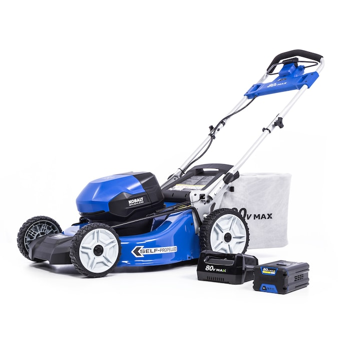 Kobalt 80 Volt Max Brushless Lithium Ion Self Propelled 21 In Cordless Electric Lawn Mower In The Cordless Electric Push Lawn Mowers Department At Lowes Com
