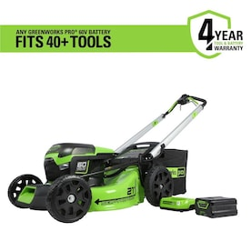 Greenworks Pro 60-volt Max Brushless Lithium Ion Self-propelled 21-in Cordless Electric Lawn Mower