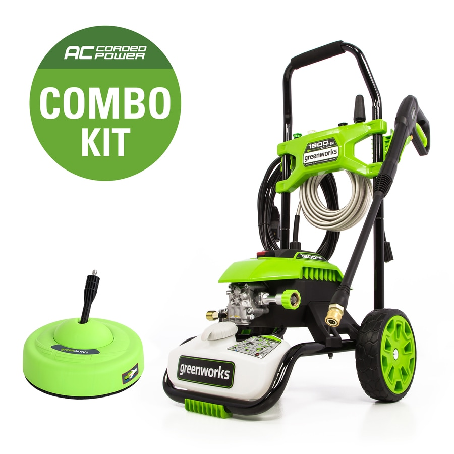 Greenworks 1800 Psi1 1 Gallon Gpm Cold Water Electric