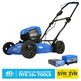 Kobalt 40-volt Max Brushless Lithium Ion Push 19-in Cordless Electric Lawn Mower